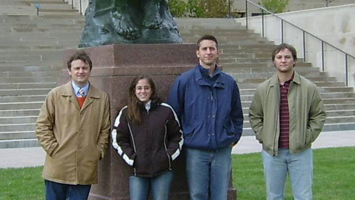 Group picture of Dr. Nikolay Gerasimchuk, Daniela Markano, Carl Cheadle and Garret Glover