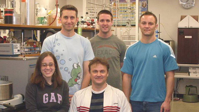 Group picture of Carl Cheadle, Matthew Keene, Garret Glover, Daniela Marcano and Dr. Nikolay Gerasimchuk