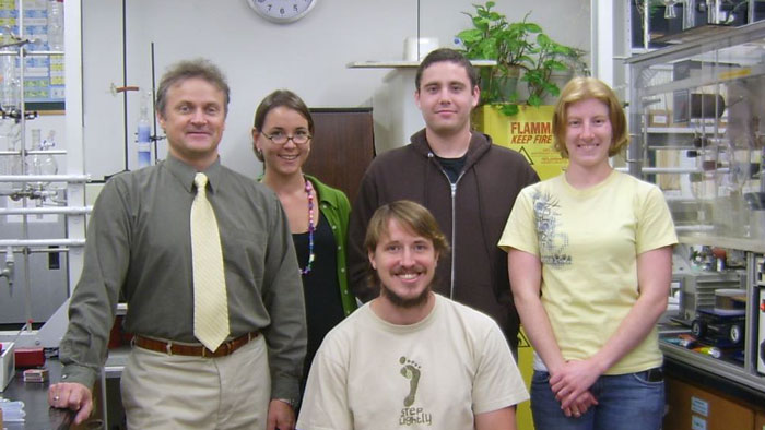 Group picture with Dr. Nikolay Gerasimchuk, Amy Shelburn, Michael Hilton, Courtney Riddles and Jeff Morton