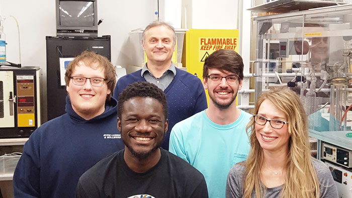 Group picture with Dr. Nikolay Gerasimchuk, Kevin Pinks, Adu Seth, Cody Turner and Patricia McDaniel